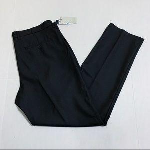 Perry Ellis Mens Slim Fit 36x32 Black Dress Pants